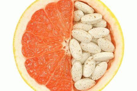 апельсин с таблетками