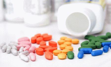 таблетки цветные