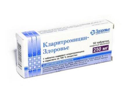 упаковка Кларитромицин