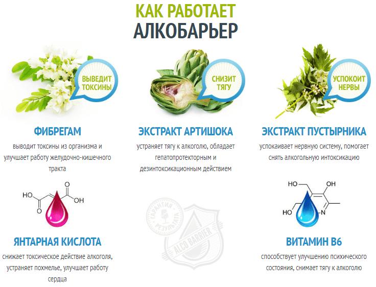 Инфографика о составе средства