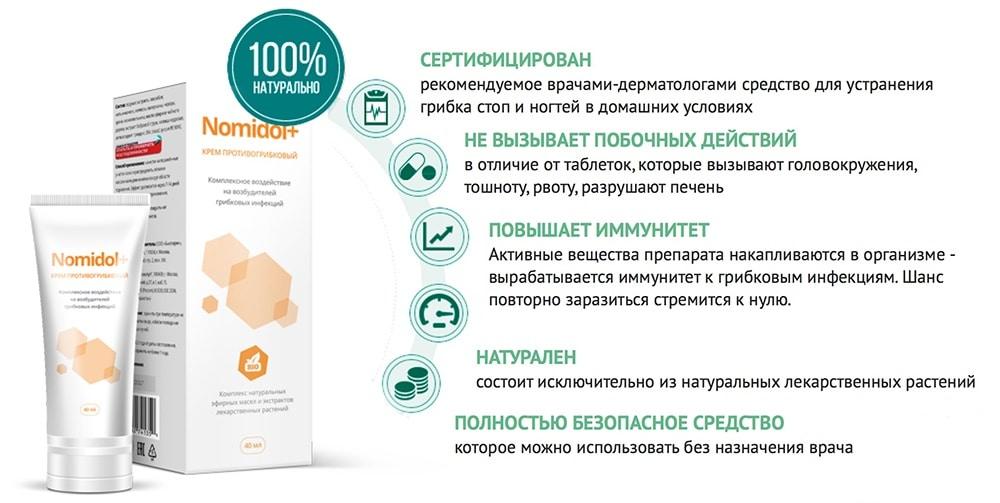 Инфографика о преимуществах средства